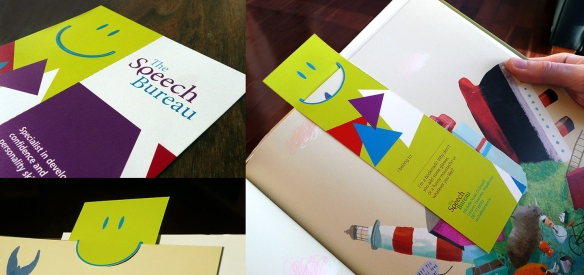 The Speech Bureau Corporate Identity & Bookmark.